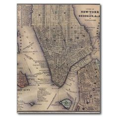sold 1 New York City Map Postcard from www.zazzle.com/YourFavoritePlaces