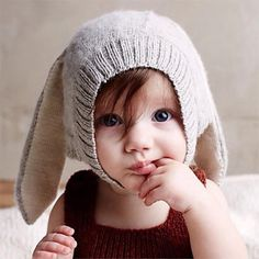 2015 Newest Autumn Ins Oeuf Nyc Baby Boys Girl's Cap Lovely Rabbit Long Ear Hats Knitted Crochet Headgear Soft Warm Cute Kids, Cute Babies, Baby Kids, Baby Boy, Fashion Kids, Women's Fashion, Ear Hats, Knitting Projects, Baby Knitting