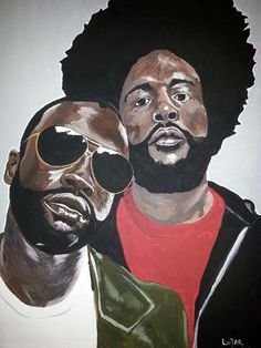 """Black Thought & QuestLove of """"The Roots"""" Art by:  Lujar Art-llc"""