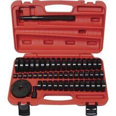 T & E Tools Deluxe Bushing/Bearing/Seal Drivers – 51-pc Set Model# TE9012  http://www.handtoolskit.com/t-e-tools-deluxe-bushingbearingseal-drivers-51-pc-set-model-te9012/