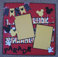 12 x 12 Disney 2-Page Scrapbook Layout - Mickey Balloons
