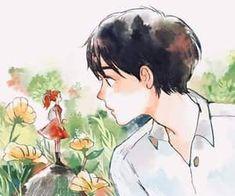 Family discovered by Türk Kızı on We Heart It Aesthetic Painting, Aesthetic Art, Aesthetic Anime, Pretty Art, Cute Art, Cute Gifs, Art Studio Ghibli, Studio Ghibli Characters, Art Mignon