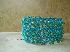 Crochet cuff - beautiful accent piece
