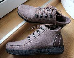 Обувь ручной работы. Заказать Демисезонные валяные мокасины 'Тирель'. DaNika - magic quilting & felting. Ярмарка Мастеров.