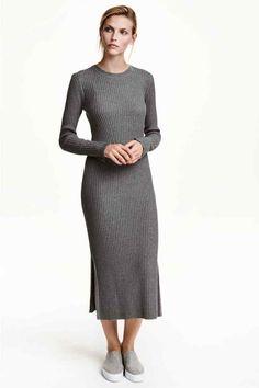 Vestido de malha canelada | H&M