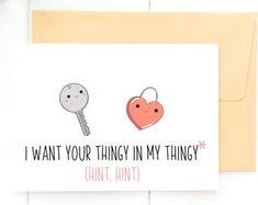 Adult Valentine Card, Dirty Valentine Card, Naughty Valentine's Day Card, Naughty Cards for Him, Funny Valentine Card Naughty Valentines, Funny Valentine, Valentine Day Cards, Cards For Boyfriend, Diy Gifts For Boyfriend, Love Cards, Diy Cards, Mother's Day Diy, Birthday Cards