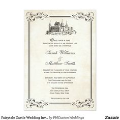 Fairytale Castle Wedding Invitations weddings disneywedding