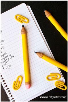How to make a fondant pencil