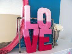 Cute #DIY Love Yarn Letters