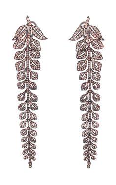 Diamond Leaves Earrings