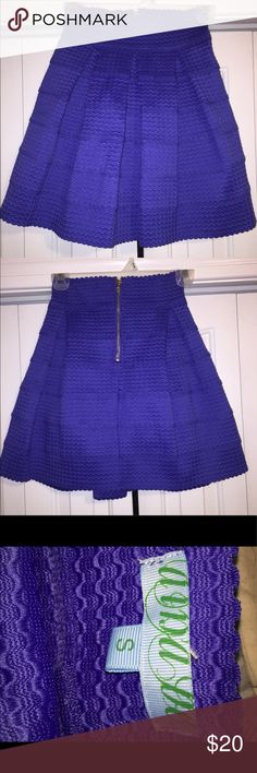 Fancy Skirt! It's very comfortable and is made of a stretchy material! Never Worn!!! Would be great for a nice evening out. Francesca's Collections Skirts