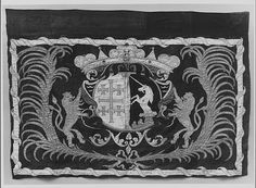 Banner Date: century Culture: possibly Polish Medium: Textile Dimensions: 39 x 56 in. x cm) Classification: Banners Credit Line: Gift of William H. Riggs, 1913 Accession Number: The Met Museum Medieval Banner, Poland History, Banner Shapes, Nautical Flags, Antique Signs, Photo Banner, Gold Work, Silk Painting, Coat Of Arms