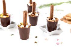 Als schöne Geschenkidee zu Weihnachten oder auch einfach nur als Mitbringsel - Selbstgemachte Spekulatius-Trinkschokolade am Stiel.