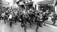 We Are The Mods! A scene from the Brighton riots in the 60s.