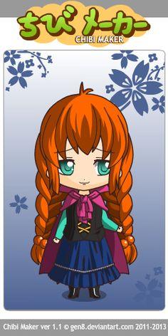 Anna (Frozen) Chibi Maker
