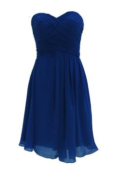 blue Bridesmaid Dress with a white strap and a little flowering. would be perfect!