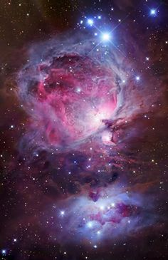 The Orion Nebula in the 'Sword' of the constellation of Orion.