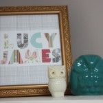 Cute name frame and owls