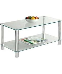 Hygena Matrix Coffee Table - Clear Glass.