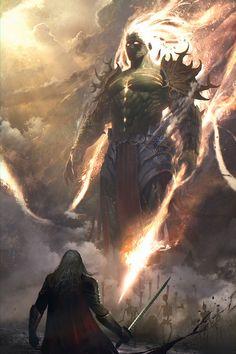 Titan, dieu créé par Rhéa pour protéger sa descendance, les dieux et le Panthéon. Est le dieu de la force. N'a pas une grande place au Panthéon car il est plutot considéré comme un garde du corps.