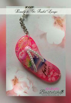 """Schlüssel-/Taschenanhänger """"FlipFlop"""" #basteln #selbstgemacht #Airbrush #diy #geschenk #neu #anhänger"""
