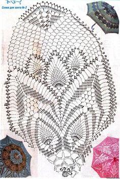 crochet umbrella chart pattern free
