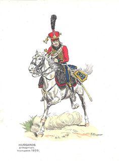 Hussard trompette du 6e rgt 1809.