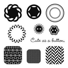 """Close to My Heart My Acrylix Stamp Set Buttons, Bits, And Bobs  Set of 10  Recommended My Acrylix® Blocks:  1"""" × 1"""" (Y1000), 1"""" × 3½"""" (Y1002), 2"""" × 2"""" (Y1003)    Stamp images outlined in red coordinate with the Cricut® Artiste collection (Z1790).    $9.95"""