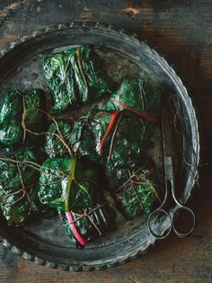 Chard Packets - stuffed with a spicy, fruity lentil mix with a little bit of heat. Eat hot, or cold. Swiss Chard Recipes, Seasoned Potatoes, Rainbow Chard, Planting Vegetables, Veggies, Healthy Salads, Healthy Food, Whole Food Recipes, Ham Recipes