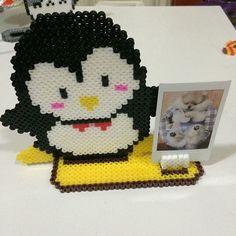 Penguin photo frame perler beads by secret_beads