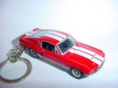 3D 1967 Ford Mustang Shelby GT500 ELEANOR custom keychain by