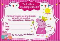 Peppa Pig Invitations, Birthday Invitations, Pig Birthday Cakes, 3rd Birthday, Invitacion Peppa Pig, Aniversario Peppa Pig, Cowgirl Party, Pig Party, Baby Shower