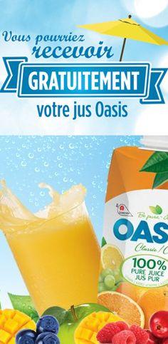 Partagez pour recevoir un jus Oasis gratuit.  http://rienquedugratuit.ca/concours/recevoir-un-jus-oasis-gratuit/