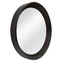 Threshold™ Deep Round Mirror - Black