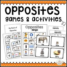 I love the real images in this pack of opposite activities for preschool and up. These are great opposite games for ESL and struggling early learners, too!