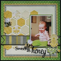 Sweet as Honey - what a great title!  And the honeycomb pattern is cool.