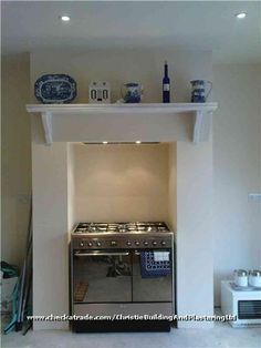 Oven in chimney breast