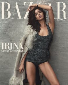 Irina Shayk for Harper's Bazaar España December 2015 covers
