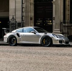 Porsche 991 GT3 RS painted in GT Silver Photo taken by: @bd.automotive on Instagram