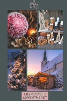 Stimmungsvoller Adventmarkt am Kirchplatz  neben der Wallfahrtskirche Filzmoos