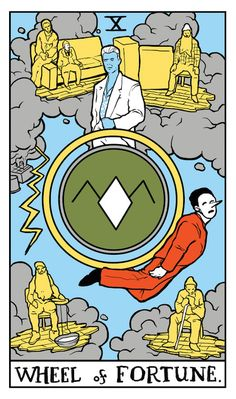 "Wheel of Fortune Twin Peaks tarot card by Benjamin Mackey. ""Bob, I want all my Garmonbozia."""