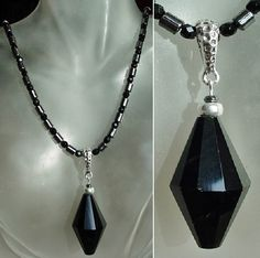 Black Czech Crystals with Hemalyke Beads Necklace with by camexinc, $45.00