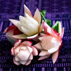 Learn how to quickly turn a radish to a flower.. easy! i have been doing this for years !