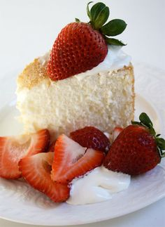 Angle Food Cake- My absolute favorite.  I have one for my Birthday every year with Fluffy White frosting! Yum-Yum
