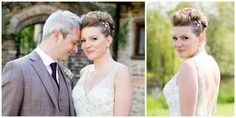 "Saskia chose the Imogen comb for her wedding which complemented her elegant up-do and bridal style perfectly. Saskia said: ""We had the most perfect day and the comb with the dress was the exact vision I'd hoped for!"" Pictures by Millie and Belle Photography. Debbie Carlisle Imogen comb"