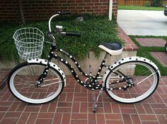 My custom made polka dot bike!!