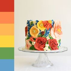 My Friends Sent Me Pictures And I Decorated Cakes Based On The Color Palettes Of Those Pictures Pics) Gorgeous Cakes, Pretty Cakes, Cute Cakes, Amazing Cakes, Unique Cakes, Creative Cakes, Elegant Cakes, Fall Wedding Cakes, Painted Cakes