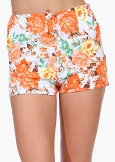 Floral Shorts. Can someone please design a version of these that will at least cover my booty?
