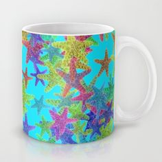 #Society6 SOLD! Free Worldwide Shipping + $5 OFF Everything Today Only! Buy Starfish Parade by Elena Indolfi as a high quality Mug. Worldwide shipping available at @society6 . Just one of millions of products available.