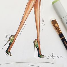 living vicariously. | @louboutinworld python pumps #